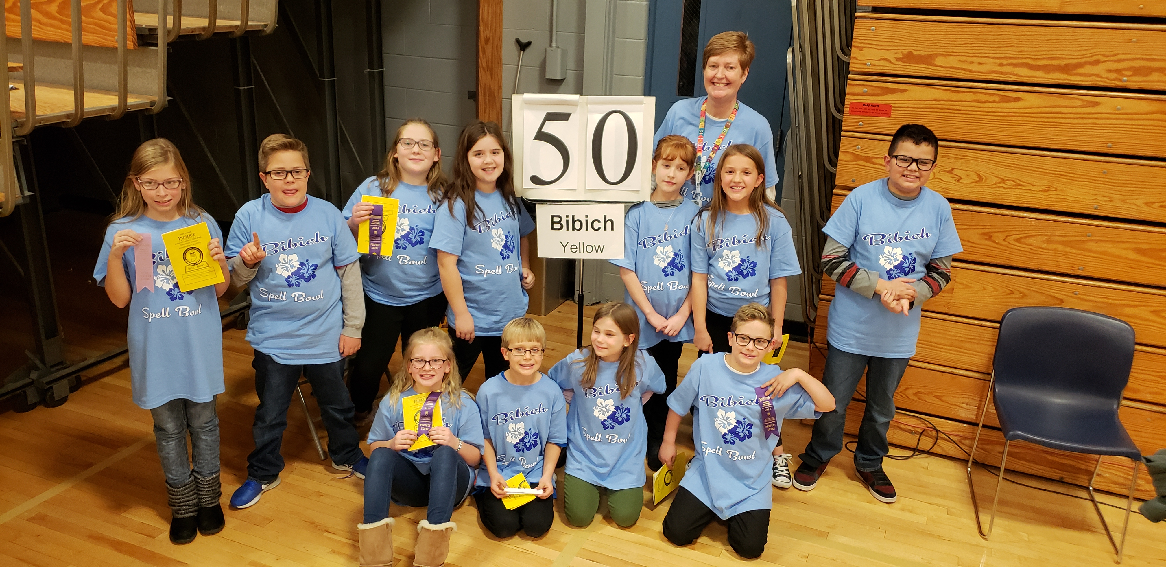 Bibich students participate in Spell Bowl.