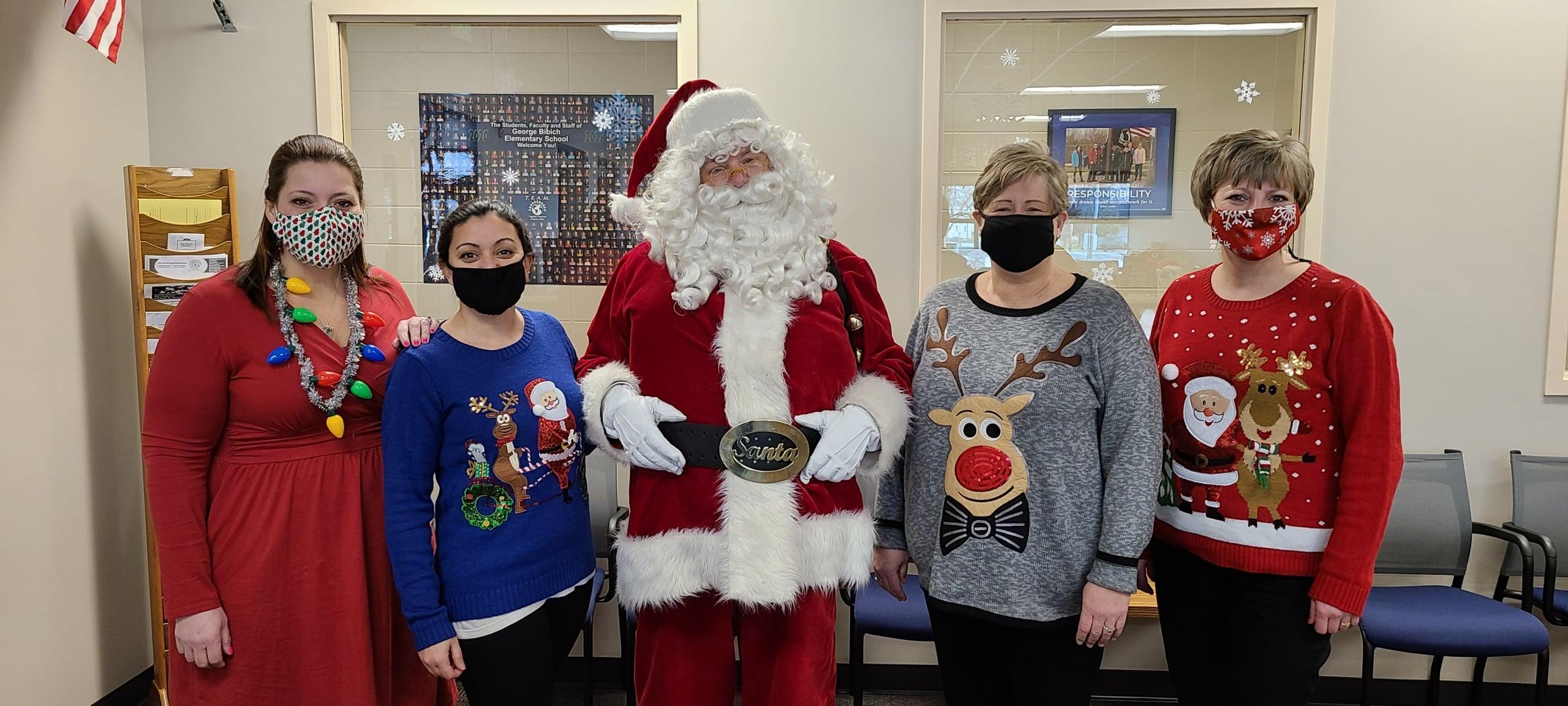 Santa visits the Bibich Office Staff!